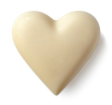 White Chocolate Heart On White...