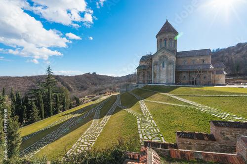 Fotografie, Obraz  Saint Nino Bodbe Monastery is a Georgian Orthodox monastic complex and the seat of the Bishops of Bodbe near Sighnaghi, Georgia