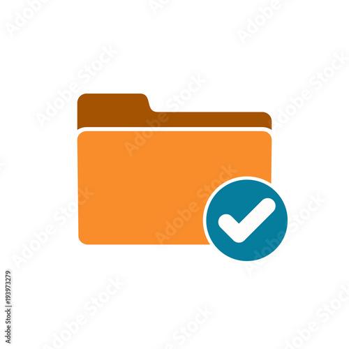 Fotografía  Accept check folder good ready valid verify icon