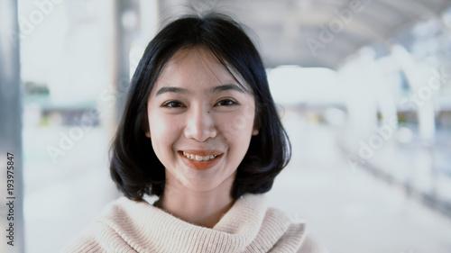 Portrait Asian pretty teena...