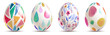 canvas print picture - watercolor easter eggs