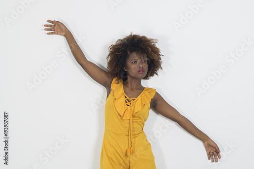 Bella mujer joven africana Canvas Print