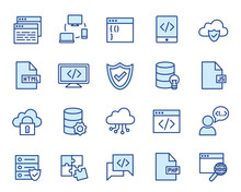 Developement Vector Icon Set