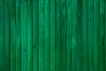 Vintage Green Painted Old Wood Plank Texture