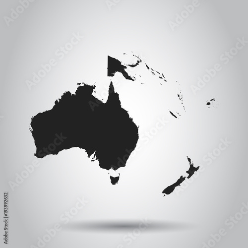 Australia and oceania map icon Wallpaper Mural