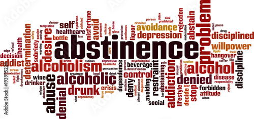 Photo Abstinence word cloud