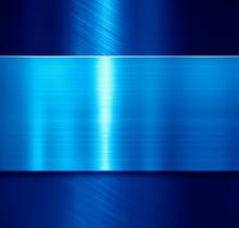 Blue Metal Panels Background 3d Illustration