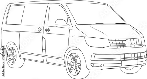 Tablou Canvas Transporter Familienvan Familienauto 06