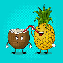 Pineapple Drink Coconut Pop Ar...