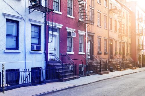 Tuinposter New York City New York City historic Gay Street in the Greenwich Village neighborhood of Manhattan