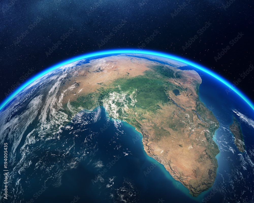 Fototapety, obrazy: Earth from space Africa view