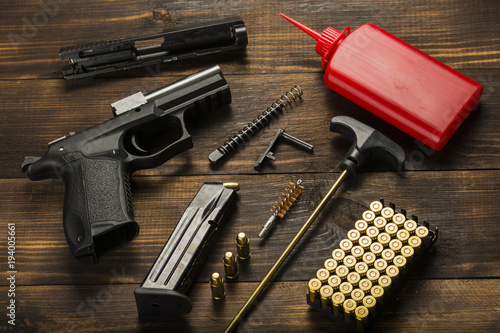 disassembled cleaning gun Wallpaper Mural