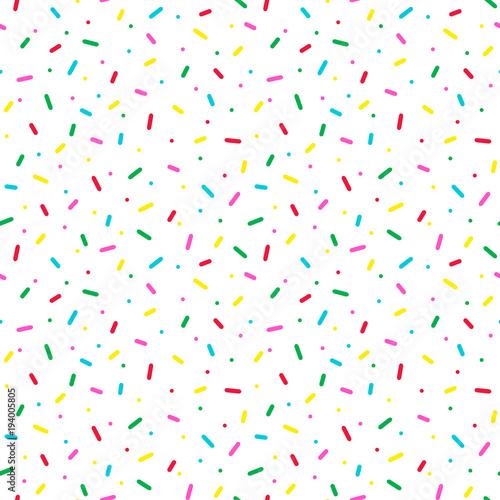 fototapeta na ścianę Seamless pattern with colorful sprinkles. Donut glaze background.