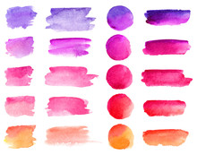 Colorful Vector Watercolor Bru...