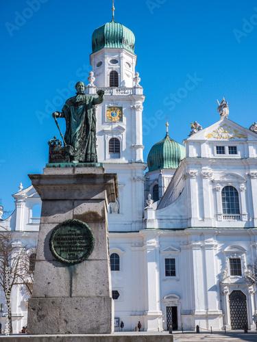 Fotografie, Obraz  Passau Denkmal König Max I Joseph von Bayern