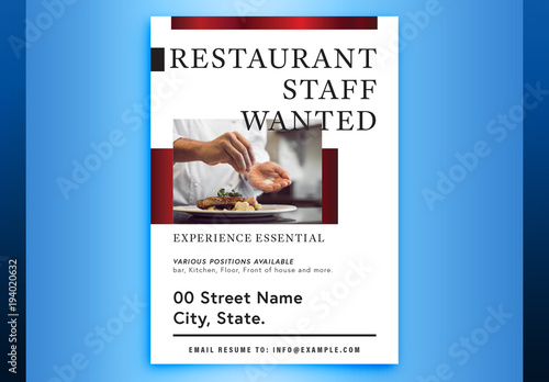 Help Wanted Poster Layout With Metallic Accents 1 Buy This Stock