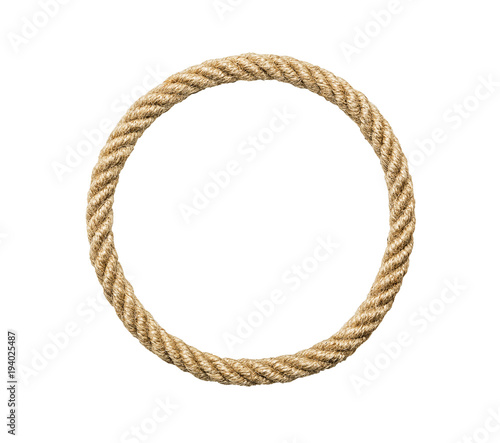 Fényképezés Circle rope frame, including clipping path