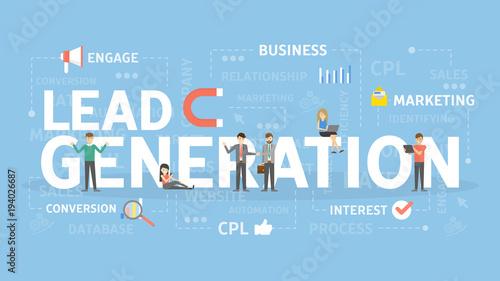 Cuadros en Lienzo Lead generation concept.