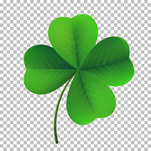 Vector Four-leaf Shamrock Clov...