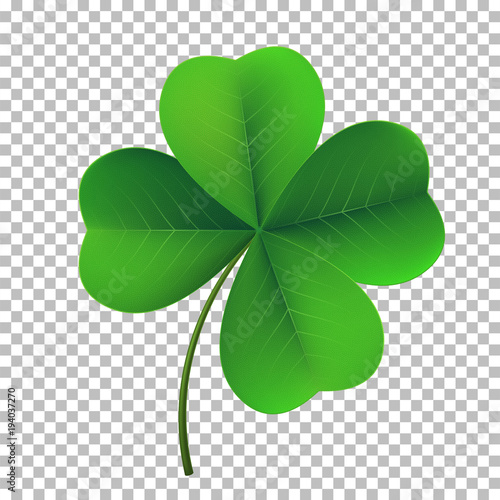 Fototapeta Vector four-leaf shamrock clover icon
