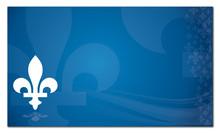 Quebec Province Of Canada Emblem Over Blue Background