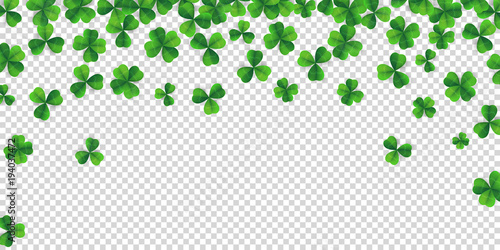 Foto Patrick day background with vector four-leaf clover pattern background