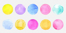Color Watercolor Circle Set. V...