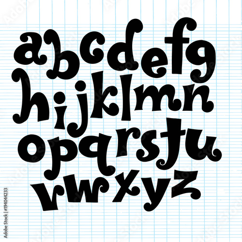 Vector Alphabet  Lettering and Custom Typography for Designs: Logo