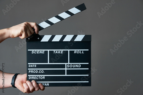 A movie production clapper board Wallpaper Mural