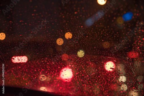 Canvastavla  blur image of city at night