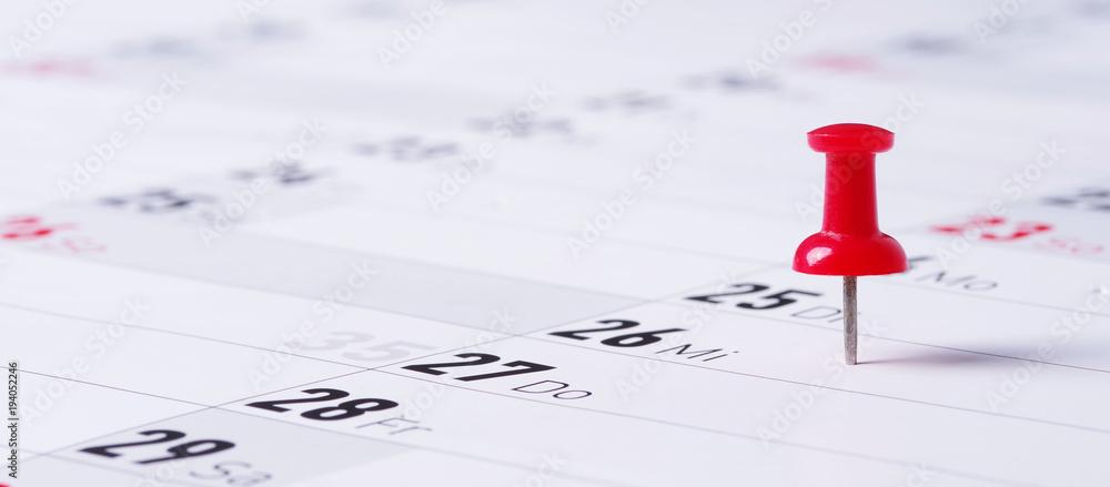 Fototapeta Kalender, Termin