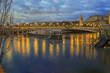 Pont Alexandre III during a winter River Seine flood
