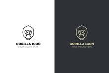 Stylized Geometric Gorilla Hea...