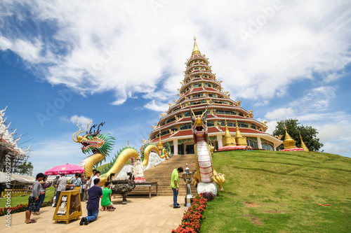 Foto op Canvas Temple Huay Pla Kang temple, Chiang Rai Thailand