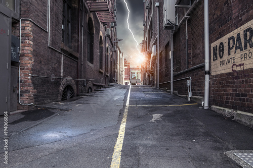 Fotografie, Obraz  Dramatic thunder background