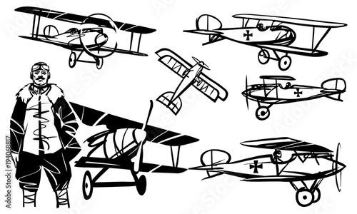 Fotografie, Obraz  Set of illustrations Albatros