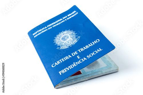 Foto  Brazilian work document and social security document (carteira de trabalho) on w