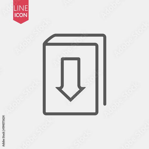 Ebook Line Icon Logo Download Book Vector Icon Online Book