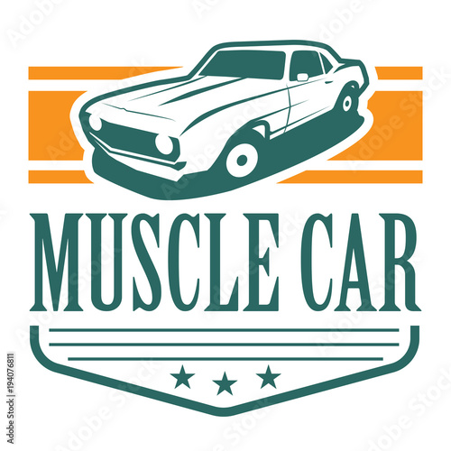 Muscle Car Logo Vector Template Buy This Stock Vector And Explore