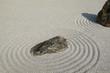 日本の庭の砂模様