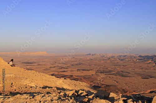Poster de jardin Desert de sable Ramon crater in the Negev desert