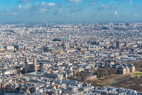 Papiers peints Paris Paris, panorama, aerial view, the Senat and the Saint-Sulpice church
