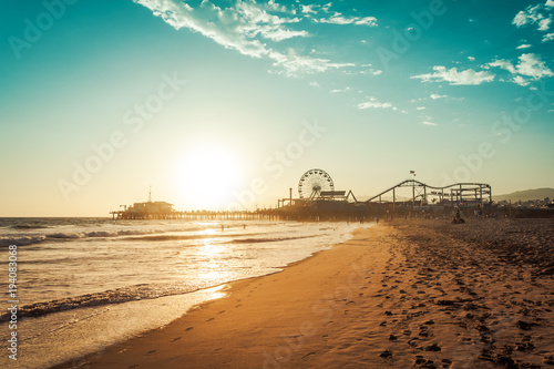 Foto op Canvas Verenigde Staten Amusement park in Santa Monica