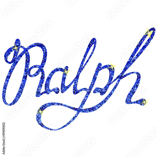 Photo  Ralph name lettering tinsels
