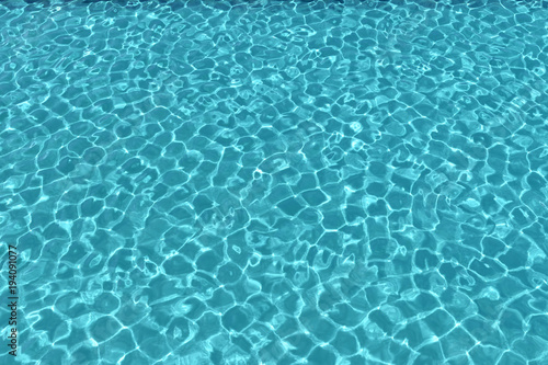 swimming pool background. Clean Blue Swimming Pool Background. 3D Rendering Background