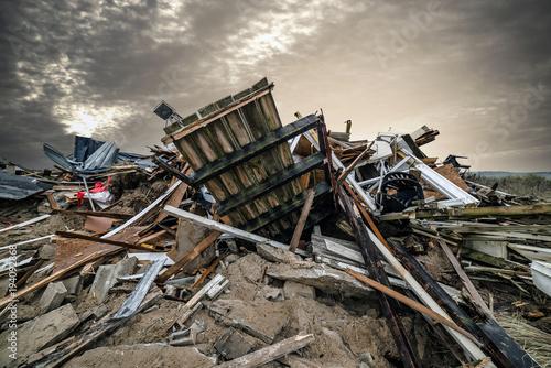 Cuadros en Lienzo dégats après la tempête