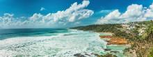 Sunny Day At Coolum Beach On Queensland's Sunshine Coast In Australia