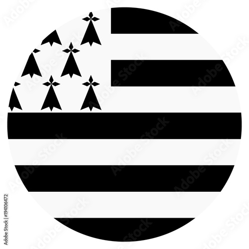 Photographie Brittany flag vector