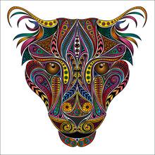 Vector Animal. Color Leopard F...