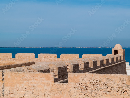 Fotografia  Fortress of Borj El-Kebir Ottoman, Mahdia, Tunisia